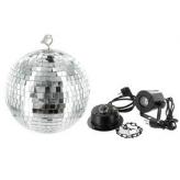 Зеркальный шар Eurolite Mirrorball set 20cm with LED spot