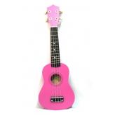Укулеле MusicLife UK-10RP сопрано розового цвета в чехле